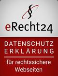 Datenschutzsiegel von eRecht24