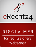 eRecht24 Disclaimer Siegel